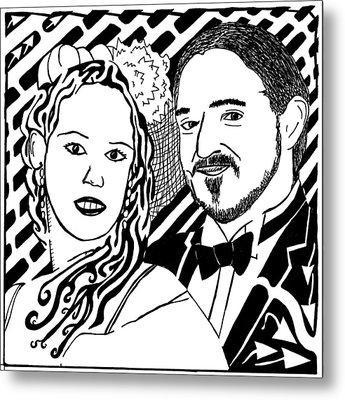 Wedding Maze Metal Print by Yonatan Frimer Maze Artist