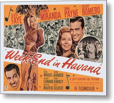 Week-end In Havana, Cesar Romero Metal Print by Everett