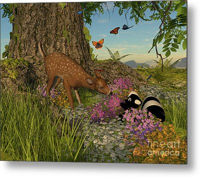 Welcome Spring Metal Print by Methune Hively