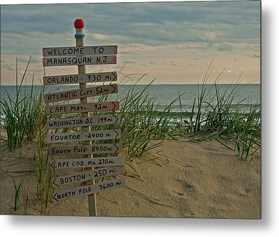 Welcome To Manasquan Metal Print by Robert Pilkington
