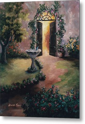 Metal Print featuring the painting Welcoming Light by Brenda Thour