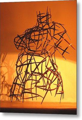 Welded Torso Metal Print by Tommy  Urbans