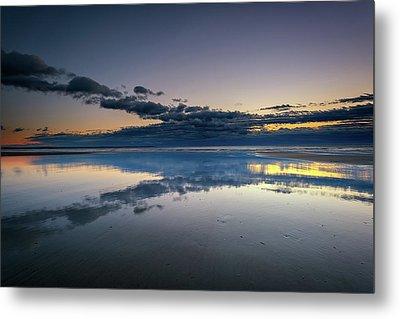 Wells Beach Reflections Metal Print by Rick Berk