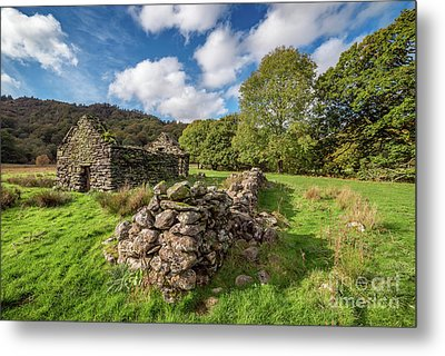 Welsh Cottage Ruin Metal Print