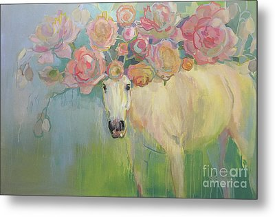 Welsh P-e-ony Metal Print by Kimberly Santini