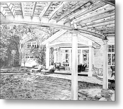 Metal Print featuring the drawing Wendy's House by Jane Autry