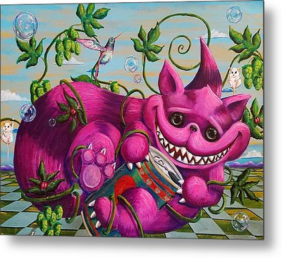 We're All Mad Here Metal Print by Nelson Perez