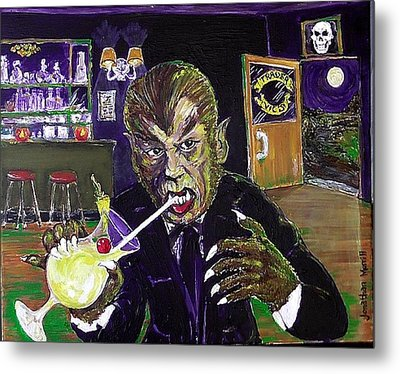 Werewolf Drinking A Pina Colada At Trader Vic's Metal Print
