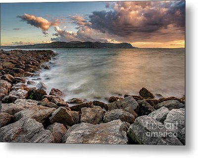 West Shore Sunset Metal Print by Adrian Evans