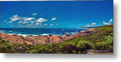 Metal Print featuring the photograph Western Australia Beach Panorama Margaret River by David Zanzinger