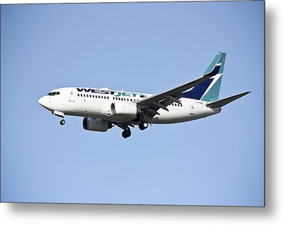 Westjet Metal Print by Nick Mares