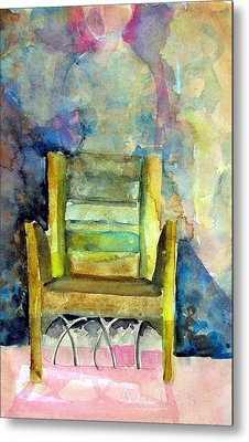 Westminster Abbey Queen Chair Metal Print by Mindy Newman