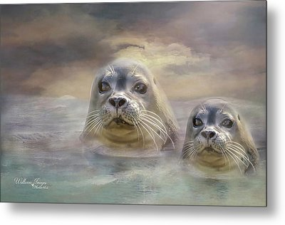 Metal Print featuring the digital art Wet And Wild by Wallaroo Images
