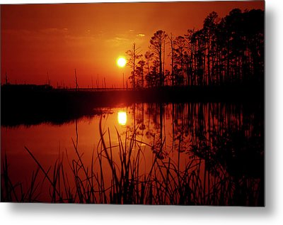Metal Print featuring the photograph Wetland Sunset by Robert Geary