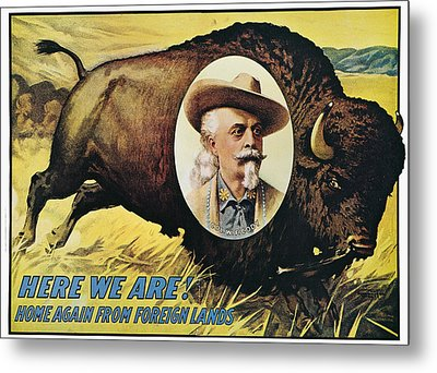 W.f.cody Poster, 1908 Metal Print by Granger