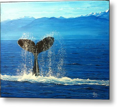 Whale Of A Tail Metal Print by Mike Ivey
