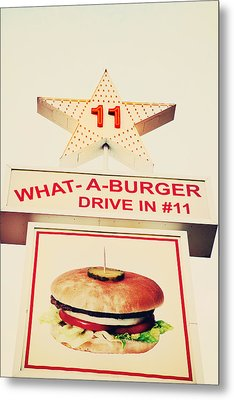 What A Burger Metal Print by Kim Fearheiley
