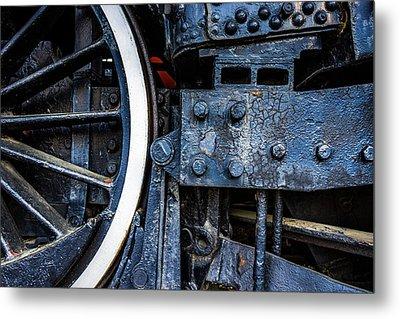 Wheel In Black II Metal Print by Jae Mishra