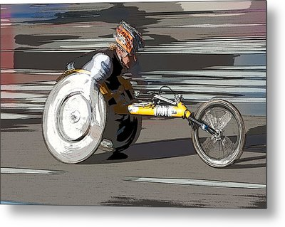 Wheelchair Racer Metal Print by Clarence Holmes