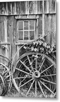 Wheels Wheels And More Wheels Metal Print by Crystal Nederman