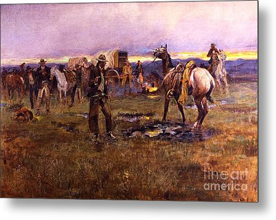 When Horses Talk Slim Chance For Truce Metal Print by Roberto Prusso