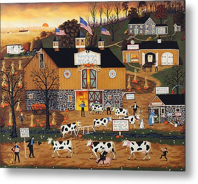 When The Cows Come Home Metal Print by Joseph Holodook
