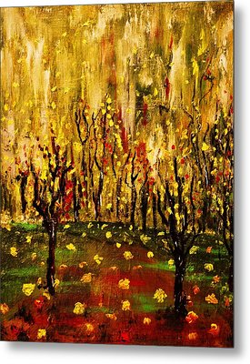 When The Leaves Falls Metal Print by Evelina Popilian