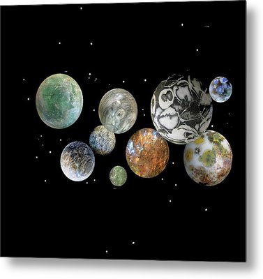 When Worlds Collide Metal Print