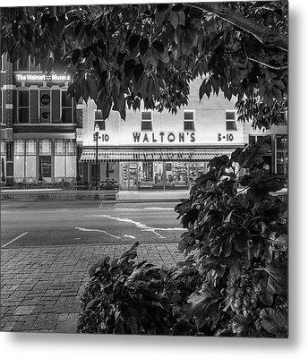 Where It All Began - Sam Walton's First Store - Black And White - Bentonville Arkansas Metal Print