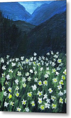 Metal Print featuring the painting Where Lilies Grow by Trilby Cole