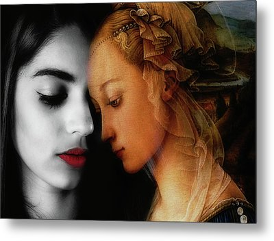 Metal Print featuring the digital art Where The Wild Roses Grow  by Paul Lovering