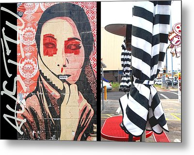 Whimsical Austin Street Photography Metal Print by Jennifer Holcombe