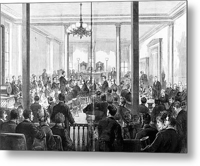 Whiskey Ring Trial, 1876 Metal Print by Granger