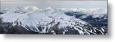 Whistler Mountain Panorama Metal Print by Pierre Leclerc Photography