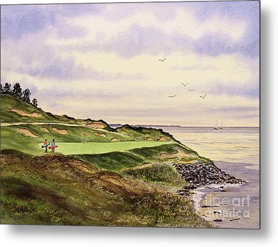 Whistling Straits Golf Course Hole 7 Metal Print by Bill Holkham