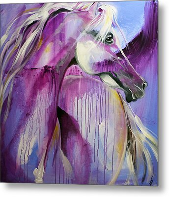 White Arabian Nights Metal Print