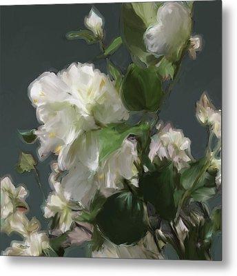 White Flowers 103 Metal Print
