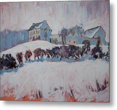 White Hill Zonneberg Maastricht Metal Print by Nop Briex