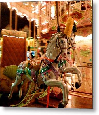 White Horses Metal Print by Linda Scharck