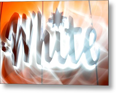 White Hot Metal Print