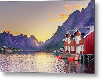 Metal Print featuring the photograph White Night In Reine by Dmytro Korol