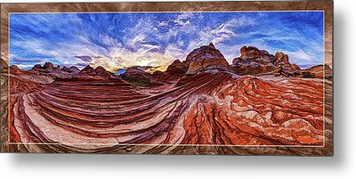 White Pocket Fall 1 Metal Print by ABeautifulSky Photography