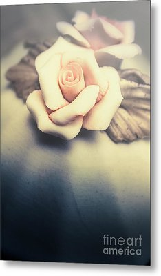 White Porcelain Rose Metal Print by Jorgo Photography - Wall Art Gallery