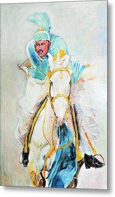 White Stallion Metal Print