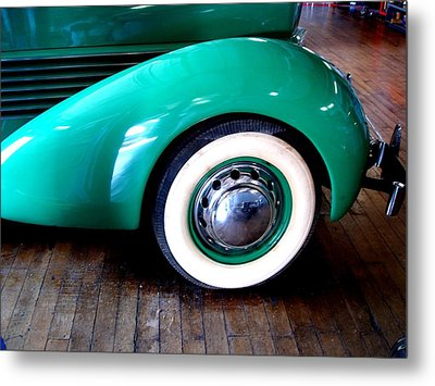 Metal Print featuring the photograph White Walls 1936 Teal by Margie Avellino