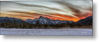 Whitehorse Sunset Panorama Metal Print