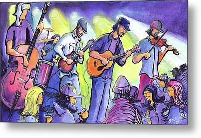 Metal Print featuring the painting Whitewater Ramble At The Barkley Ballroom by David Sockrider