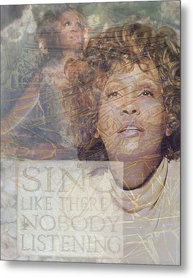 Whitney Houston Sing Metal Print