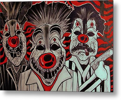Who R These Clown's..... Metal Print by Ottoniel Lima