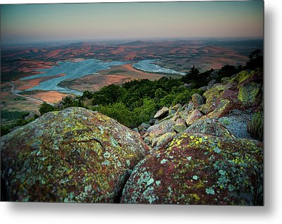 Wichita Mountains In Lawton Metal Print by Iris Greenwell